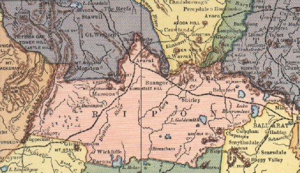 Map links Gelenelg Wannon Region of SW Victoria Australia